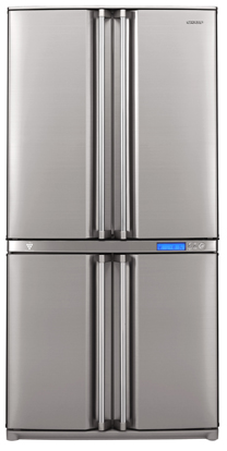 Unlike Side By Side Fridge Freezer Combinations Of A Similar Size, The Refrigerator  And Freezer Compartments Of The SJ F800SP Are Stacked, ...